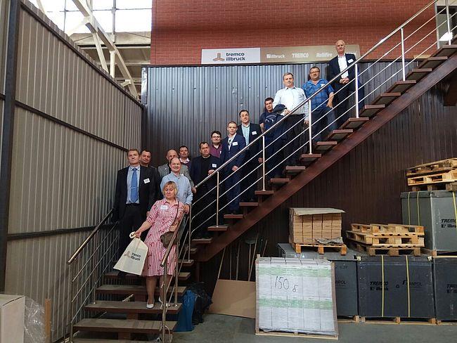 встреча партнеров tremco illbruck на новом складе в Подольске